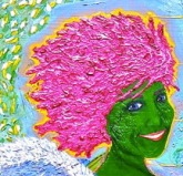 detail of afro-dite