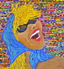 detail of 'iris on holiday'