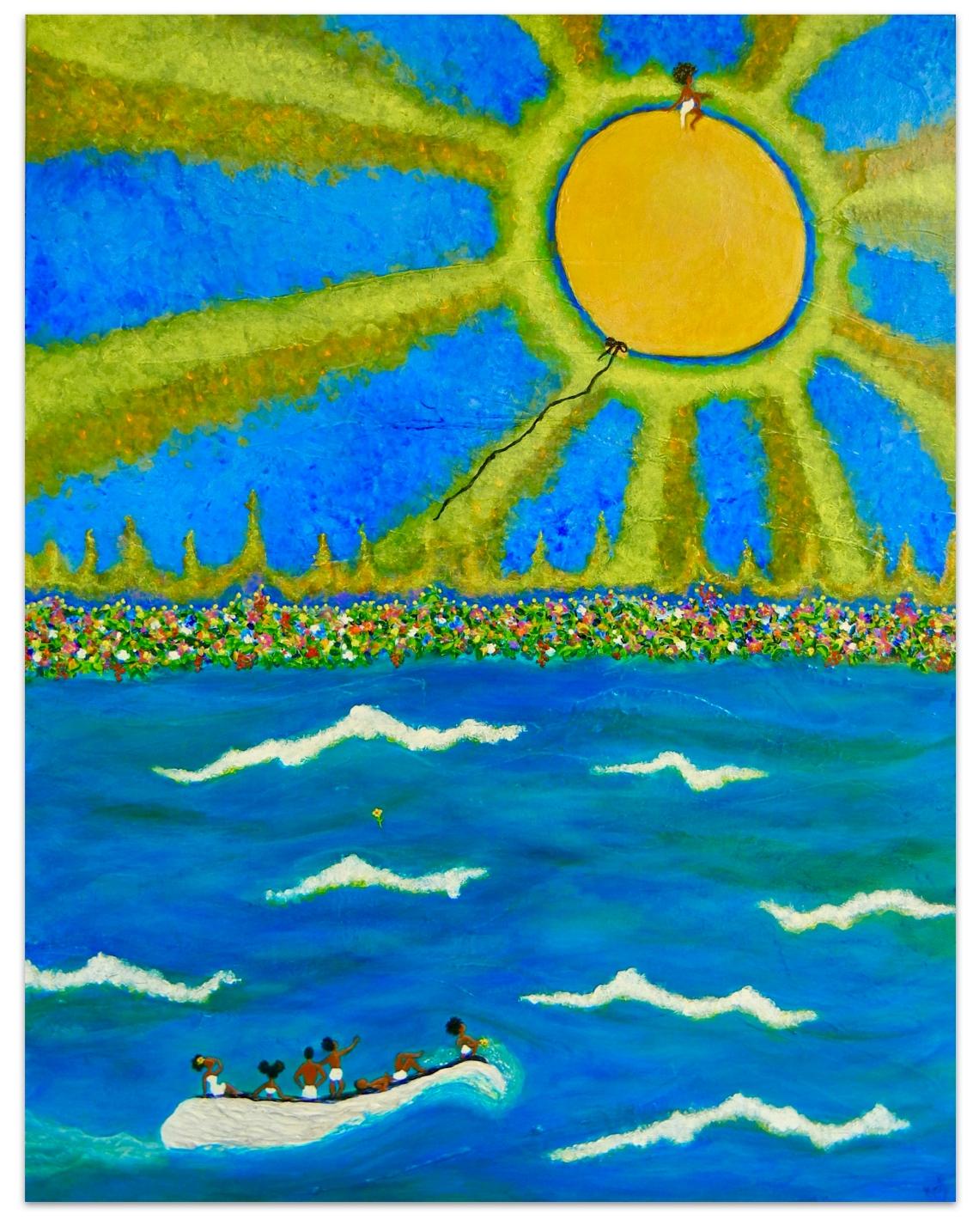 Blissbait Art   St. Simons Artist Katy Boyer/'homeward bound'